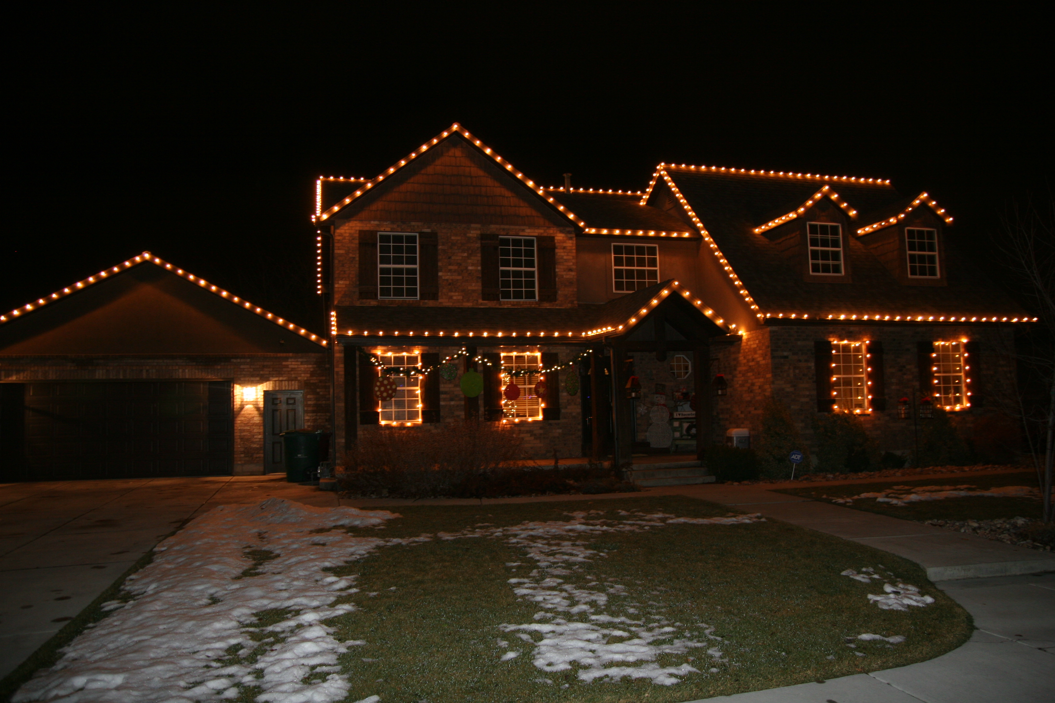 christmas lights on a home
